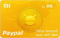 Buy any amount of Mi Credits